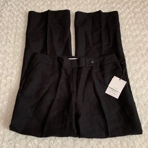 Calvin Klein Ladies Dress Pants Black Linen Blend